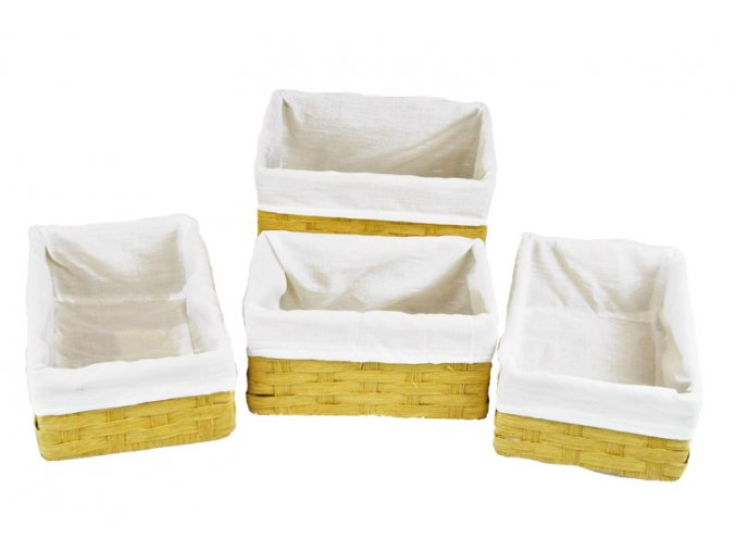 Sada 4 úložných boxů pískových