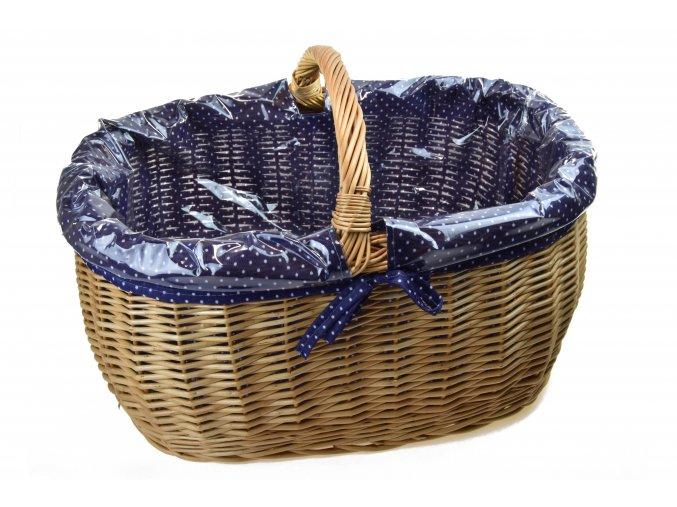 17139 prouteny nakupni kos s igelitovou vlozkou a modrou latkou
