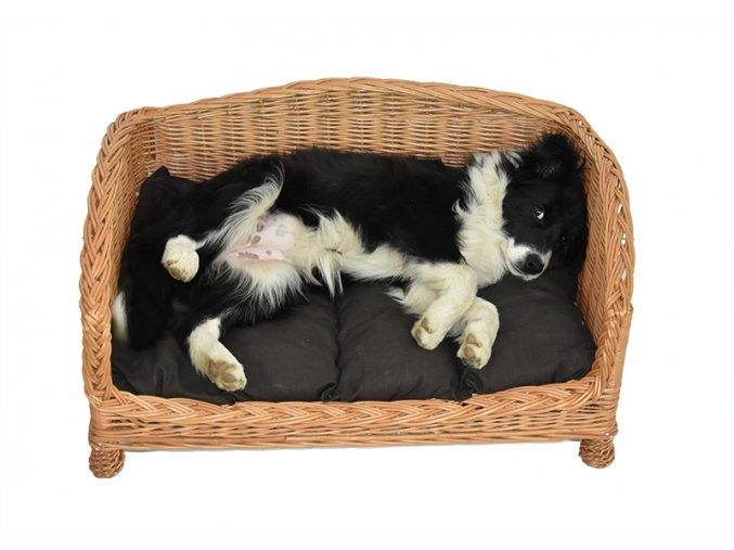 Proutěná pohovka pro psy (rozměry (cm) 95x75, v. 40 , v. vstupu 13)