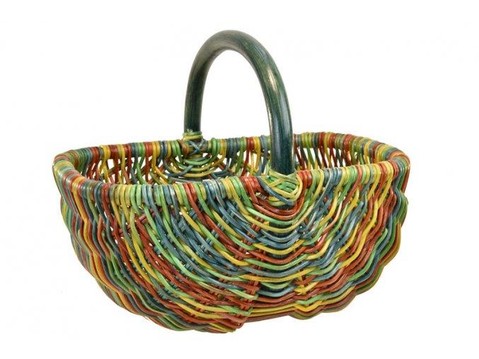 Ratanový košík na nákup barevný