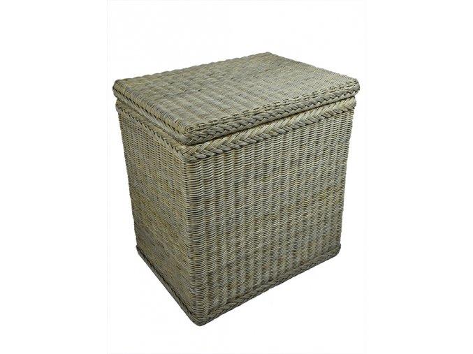 Ratanový koš na prádlo šedý (rozměry (cm) 46x28, v. 50)