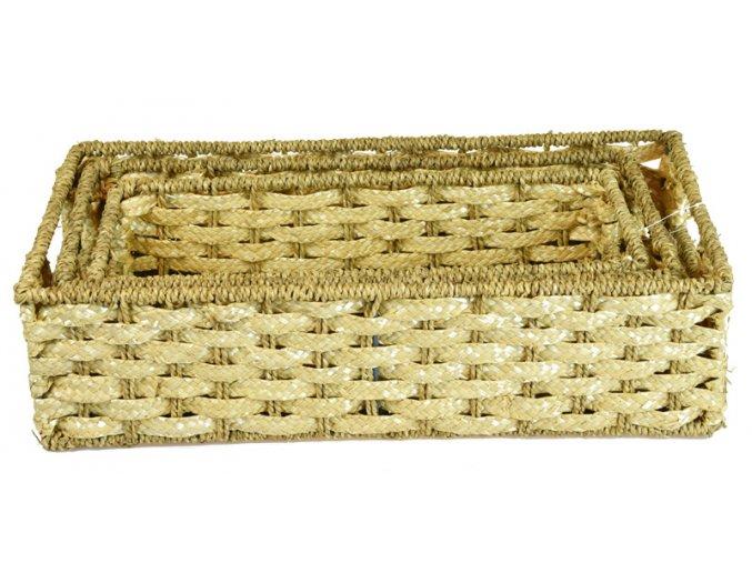 Úložný box z trávy (rozměry (cm) 9x15, v. 35)