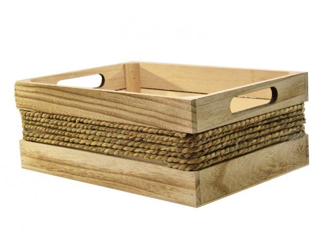 18260 sada 2 drevenych bedynek s provazem