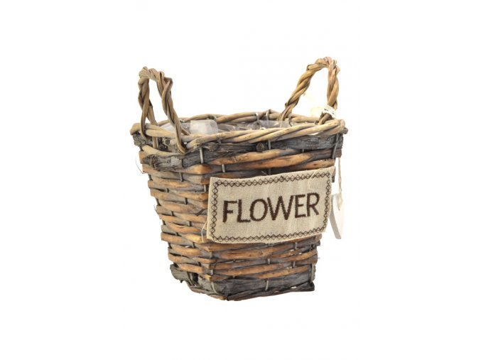 18299 sada 3 hnedych proutenych kosicku flower hranate