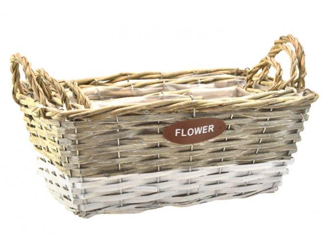 18311 2 sada 3 sedobilych proutenych kosicku flower hranate