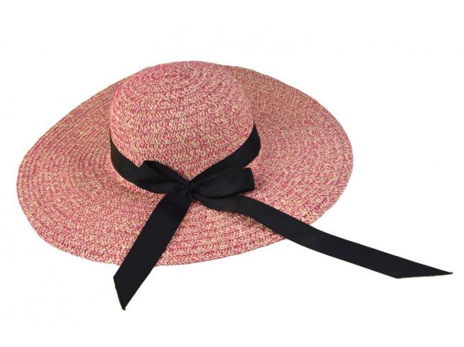 Dámský klobouk melírovaný sytě růžový