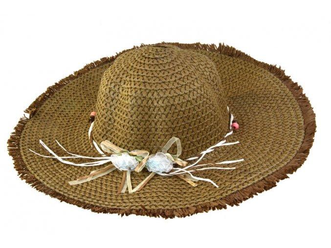 Dámský klobouk hnědý