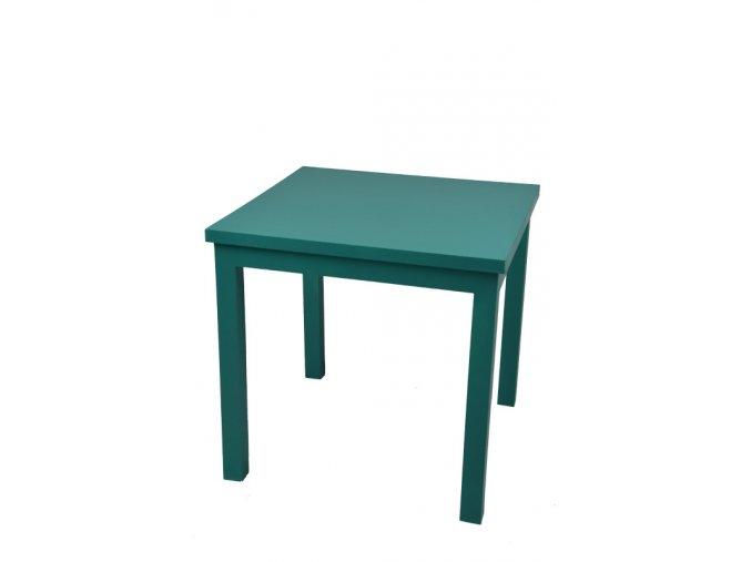 Dřevěný stolek zelený