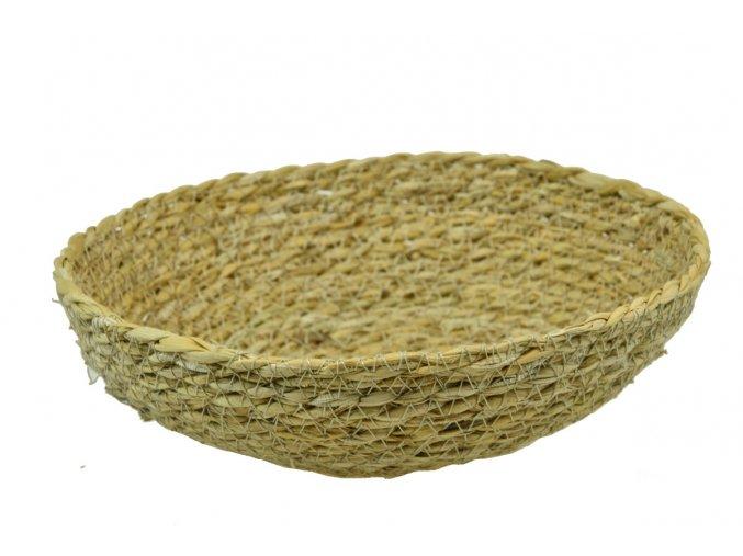Miska Vingo kulatá pletená z mořské trávy