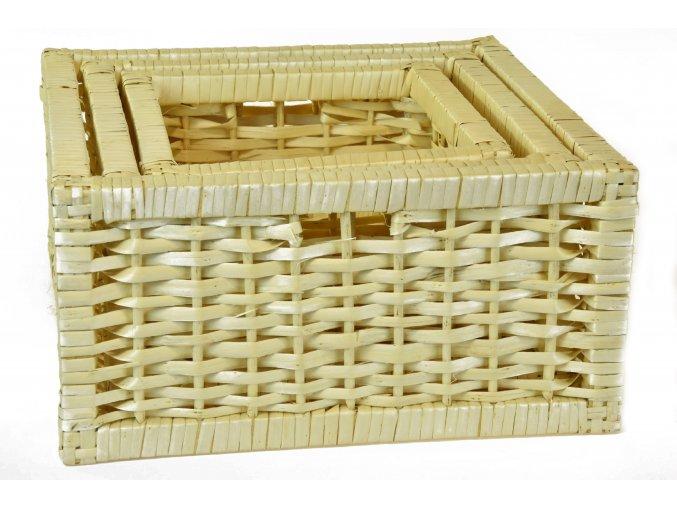 Sada 3 úložných boxů bílých