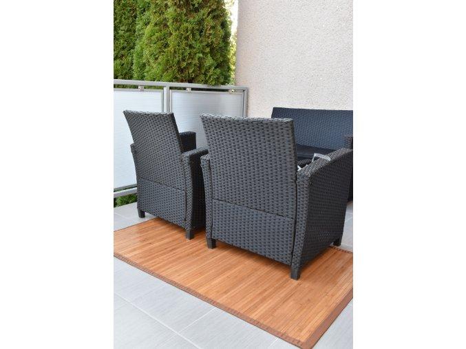 Bambusový koberec hnědý (rozměry 80x200)