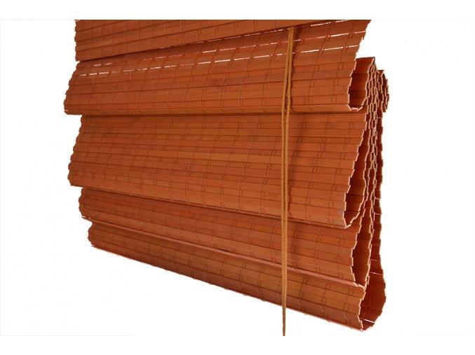 Bambusová římská roleta oranžová