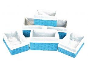 Sada 6 úložných boxů světle modrých
