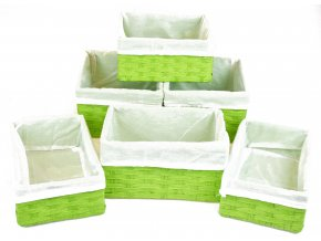 Sada 6 úložných boxů zelených