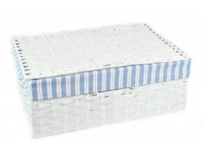 Sada 3 úložných boxů s víkem bílých (rozměry boxu Sada  11x30x21|13x36x24|15x40x27)