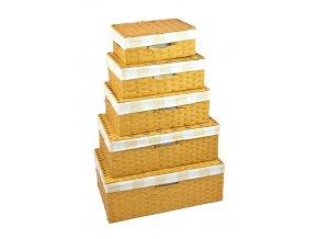 Úložný box s víkem pískový (rozměry (cm) 22x15, v. 9)