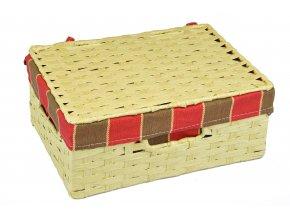 Sada 3 úložných boxů s víkem  (rozměry boxu Sada  3x30x21|11x26x18|9x22x15)