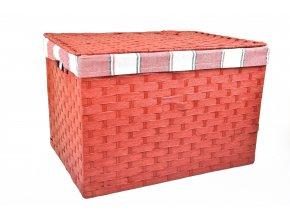 Úložný box s víkem červený (rozměry boxu 30x43x32)