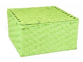 Sada 3 úložných boxů s víkem zelených