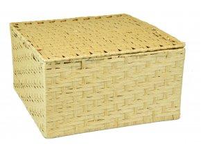 Sada 3 úložných boxů s víkem pískových