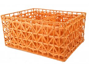 Sada 3 úložných boxů oranžových (rozměry boxu Sada  22x46x36 20x42x32 18x30x18)