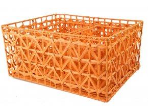 Sada 3 úložných boxů oranžových (rozměry boxu Sada  22x46x36|20x42x32|18x30x18)