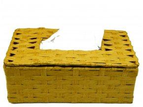 Box na kapesníky pískový