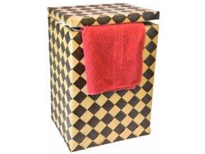 Koš na prádlo hnědá kostka (rozměry (cm) 35x39, v. 54)