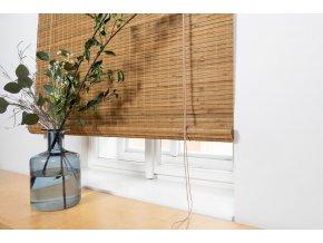 Zatemňovácí bambusová roleta světle hnědá - odstín ořech