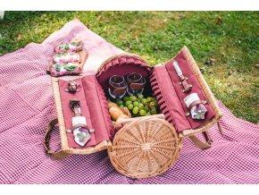 12352 2 prouteny piknikovy kos na vino vybaveny pro 2 osoby