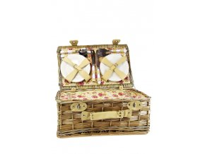 Proutěný piknikový koš vybavený