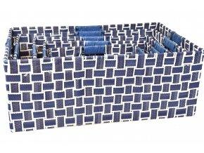 Úložný box modro-bílý