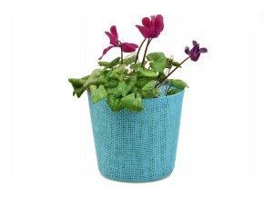 Květináč modrý
