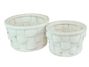 Sada 2 obalů s PVC vložkou bílý