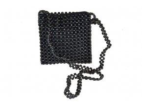 Černá korálková kabelka