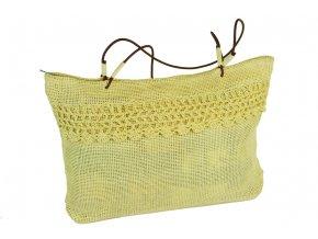 Letní žlutá taška zdobená