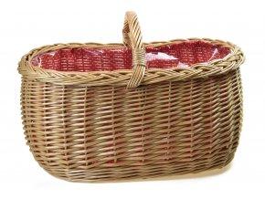 13429 prouteny nakupni kosik s igelitovou vlozkou a cervenou latkou