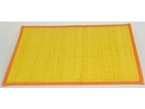 Bambusové prostírání Vingo na velikonoční stůl oranžové barvy