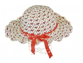 14031 slameny klobouk cerveny s masli