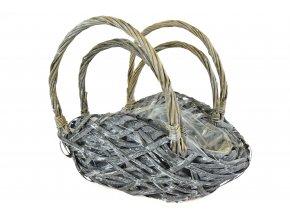 Květináč taška šedá (rozměry (cm) 34x15, v. 26)