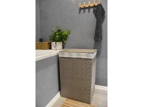 Koš na prádlo šedý (rozměry (cm) 36x26, v. 58)