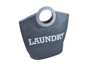Textilní koš na prádlo LAUNDRY šedý