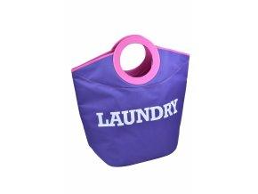 Textilní koš na prádlo LAUNDRY lila