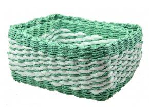 Sada 3 boxů zelených hranatých