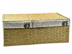 Úložný box s víkem s látkou PARIS