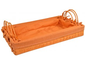Provázkový podnos oranžový