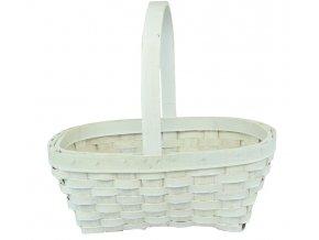 Košíček bílý (rozměry (cm) 29x34, v. 37)