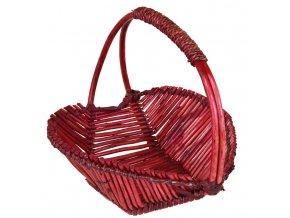 Košíček srdíčko červené
