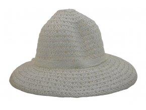 Dámský letní klobouk světle smetanové barvy