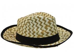 16263 pansky slameny letni klobouk s cernym lemem